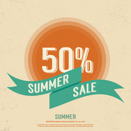 Summer sale vintage banner poster,abstract background,vector eps10.