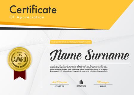 Zertifikatvorlage Luxus- und Diplomstil, Vektorillustration.