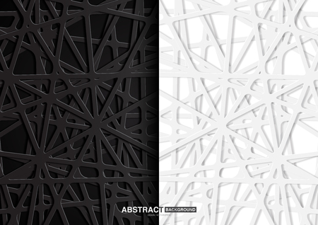 Black and white abstract background with differrent concept.Vector Illustration. Çizim