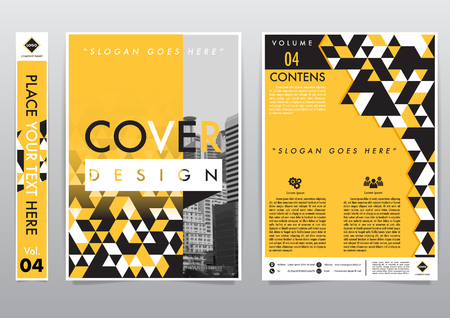 Cover page design template illustration.Business flyer poster magazine Vector Eps10 layout in a4 size. Çizim