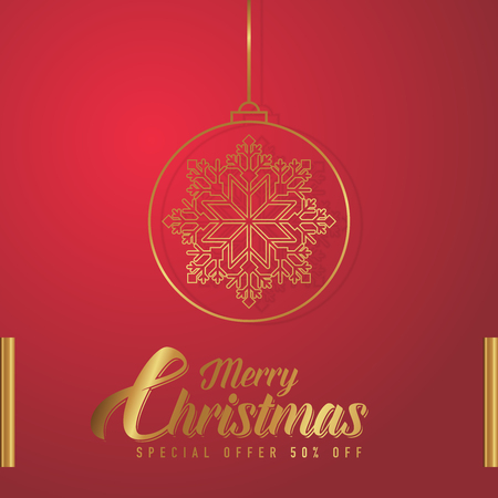 Merry christmas greeting card design,background with snowflakes and typography. Stok Fotoğraf - 114909910