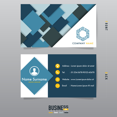 Modern business card design,creative template vector.