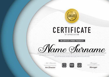 Certificate template luxury and diploma style,vector illustration. Stok Fotoğraf - 114786358