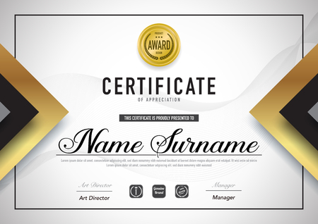 Certificate template luxury and diploma style,vector illustration. Banque d'images - 114786444