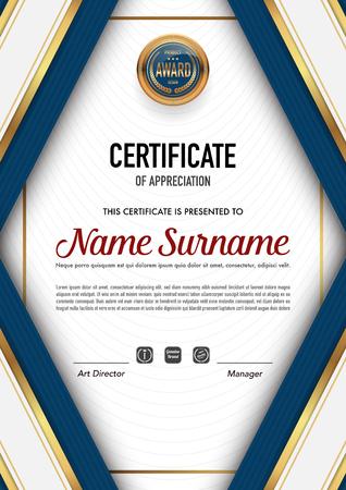 Certificate template luxury and diploma style,vector illustration. Vektoros illusztráció