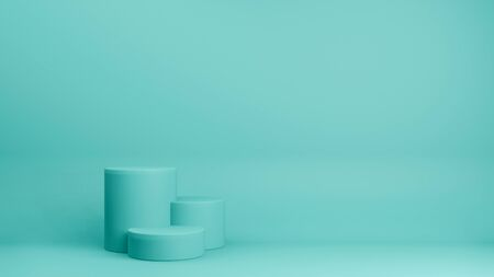 3d render of minimal style podium or pedestal on pastel background.Abstract concept. 免版税图像
