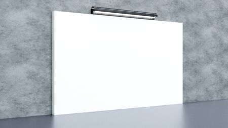Blank white backdrop and banner design.Textile and fabric of advertising banner concept or media display background.3D render illustration.