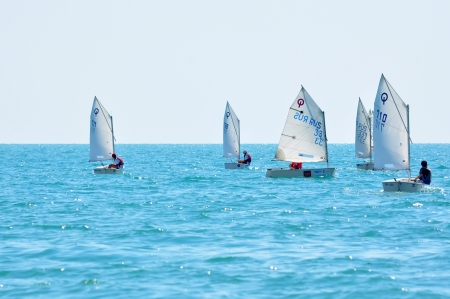 Sochi regatta in the Olympic classes in support of Russian athletes at the Summer Olympics in London 2012 on June 21, 2012, Sochi, Russia