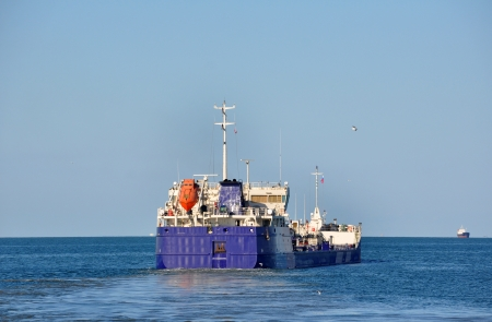 Cargo ship in Azov sea, Russia Stock Photo - 17349851