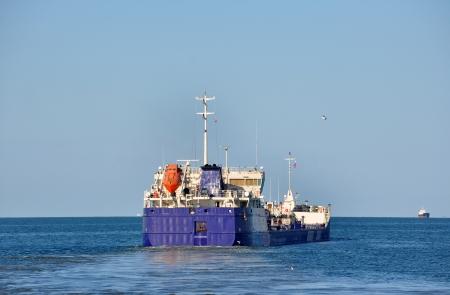 azov sea: Cargo ship in Azov sea, Russia