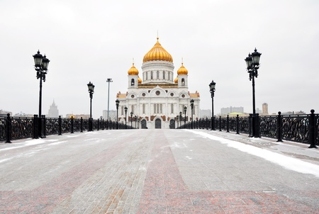 Moscow Cathedral of Christ the Savior in winter