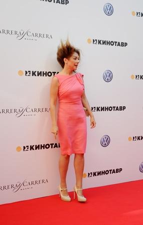 secular:  Secular columnist Bozena Rynska at the Open Russian Film Festival  Kinotavr  on June 10, 2012, Sochi, Russia