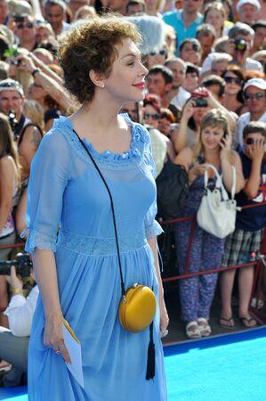 Secolare editorialista Bozena Rynska al Russian Open Festival Kinotavr il 10 giugno 2012, Sochi, Russia Editoriali