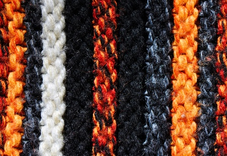 Fragment of bright striped knitted acrylic fabric Stock Photo - 17350938