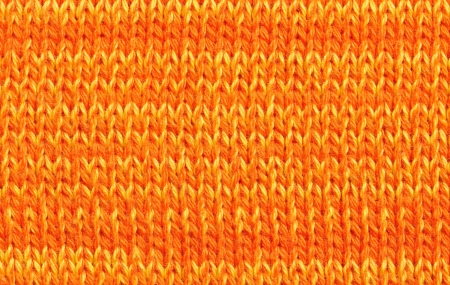 Orange knitted textile