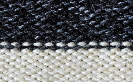 acrylic yarn: Acrylic fabric, purl  black and white
