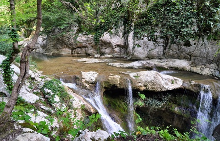 Waterfalls in Agura river canyon, Sochi National Park  Stock Photo - 17400048