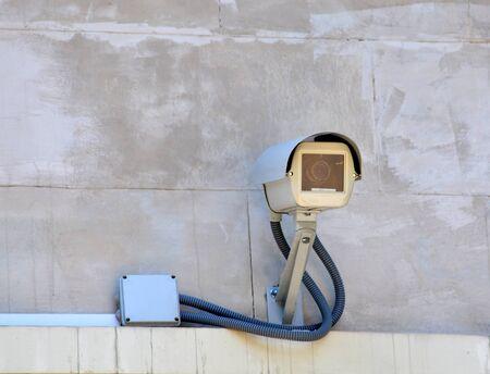 Lens of the camera outdoor surveillance Stock Photo - 17398741