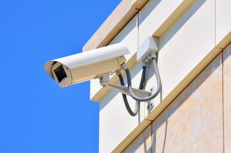 The modern building video surveillance Stock Photo - 17400852