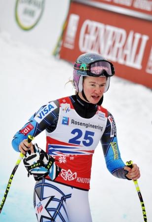 fis: Sochi, Russia - 18 febbraio Laurenne Ross compete nel Alpino FIS Ski World Cup 2011 2012 il 18 febbraio 2012 Russia, Sochi, Rosa Khutor Editoriali