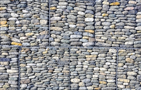 Gabion  building background  photo