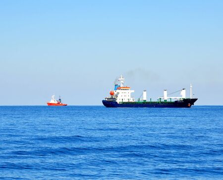 Cargo ships in Black Sea on horizon Stock Photo - 17401267