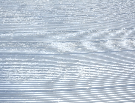 ski traces: Snowcat traces on the ski slopes