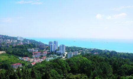 Cityscape of russian SPA Resort Sochi Stock Photo - 17400289