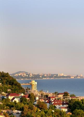 Beautiful evening in Sochi  coastal landscape  Stock Photo - 17400107