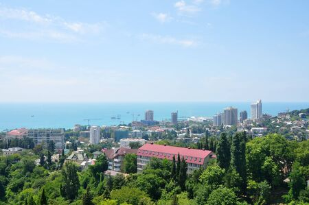 Top view of  center of Sochi SPA Resort, Russia Stock Photo - 17400677