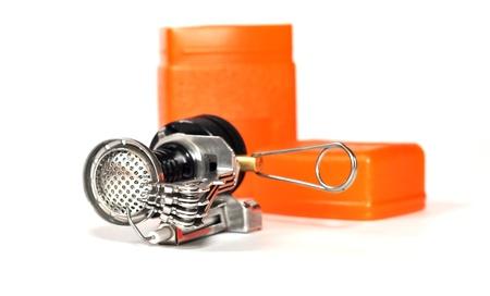 Portable gas burner with piezo igniter photo