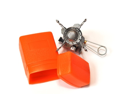 Piezo gas burner isolated on white  top view  photo