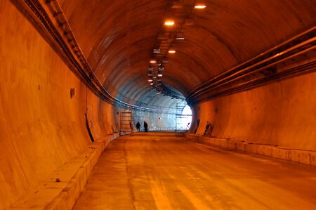 Road tunnel under construction