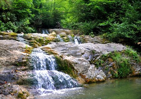 Sochi National Park, some waterfalls on mountains Stock Photo - 17399763