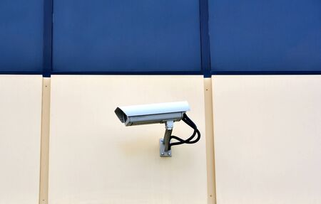CCTV camera on a wall watch left Stock Photo - 17398534