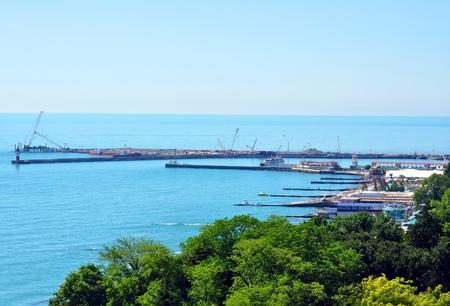 Ricostruzione di Sochi porto di mare, la vista generale dall'alto