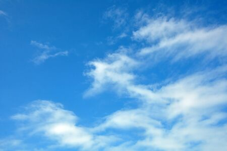 Horizontall background with magic clouds in blue summer sky  Stock Photo - 17433359
