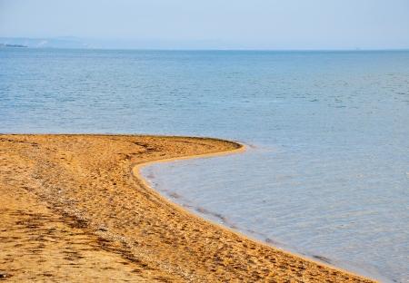 tuzla: Sandy Spit Tuzla in the Sea of Azov, Russia Stock Photo
