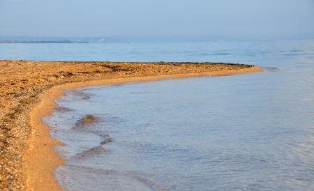 tuzla: Sandy Spit Tuzla in the Sea of Azov in Russia