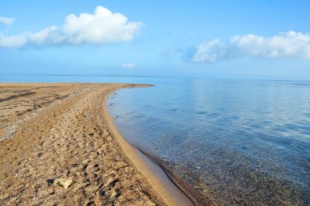 azov sea: Extremity of the Tuzla Spit in the Azov Sea