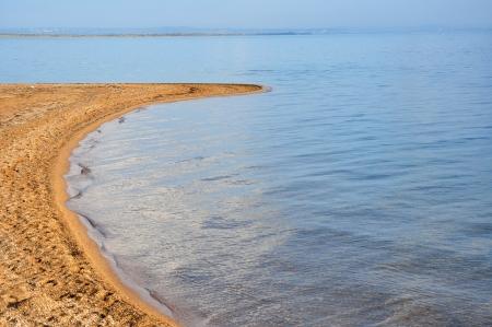 azov sea: Extremity of the Tuzla Spit in the Azov Sea, Russia Stock Photo