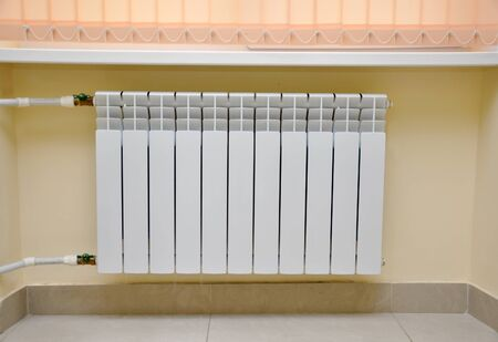 Radiator in the room interior
