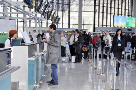 I passeggeri del volo sono registrati in Sochi aeroporto