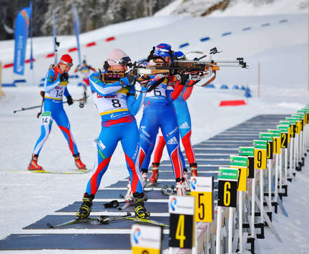 attentiveness: Cup of Russia on biathlon in Sochi on February 10, 2012