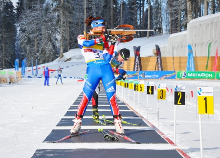 purposefulness: Cup of Russia on biathlon in Sochi on February 10, 2012