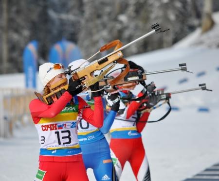 attentiveness: Cup of Russia on biathlon in Sochi on February 10, 2012