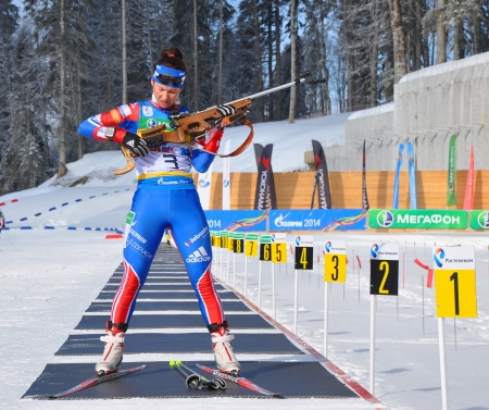 Cup of Russia on biathlon in Sochi on February 10, 2012  The combined ski-biathlon complex  Laura