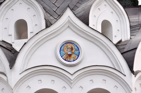 first miracle: Fragment of decorative St  Michael the Archangel Cathedral, Sochi Stock Photo