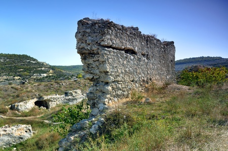 xv century: Kalamita (Inkerman) fortress, built in XV century Stock Photo