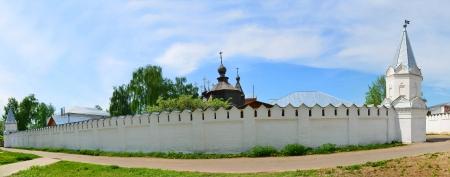 Anello d'Oro della Russia: Monastero di Santa Trinit� in Murom. Panorama cucita